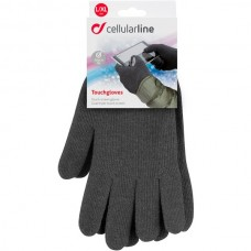 CELLULARLINE Unisex Winter Touch Screen Gloves L/XL Black APPLE iPad Air